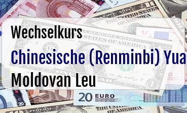 Chinesische (Renminbi) Yuan in Moldovan Leu