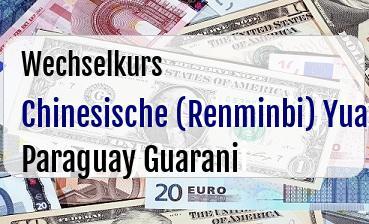 Chinesische (Renminbi) Yuan in Paraguay Guarani