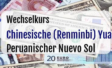 Chinesische (Renminbi) Yuan in Peruanischer Nuevo Sol