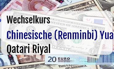 Chinesische (Renminbi) Yuan in Qatari Riyal