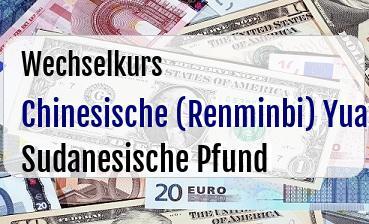 Chinesische (Renminbi) Yuan in Sudanesische Pfund