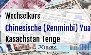 Chinesische (Renminbi) Yuan in Kasachstan Tenge