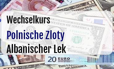 Polnische Zloty in Albanischer Lek