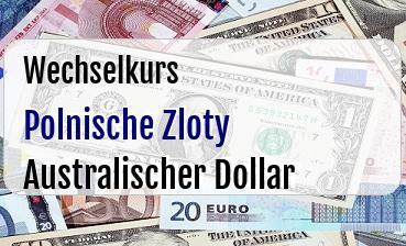 Polnische Zloty in Australischer Dollar