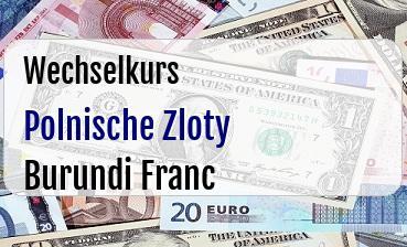 Polnische Zloty in Burundi Franc