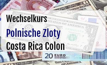 Polnische Zloty in Costa Rica Colon