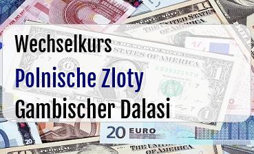 Polnische Zloty in Gambischer Dalasi