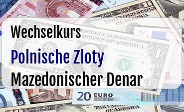 Polnische Zloty in Mazedonischer Denar