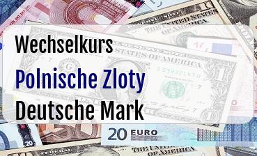 Polnische Zloty in Deutsche Mark