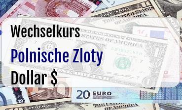 Polnische Zloty in US Dollar