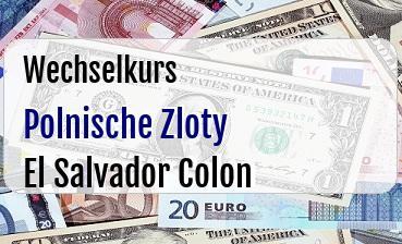Polnische Zloty in El Salvador Colon