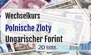 Polnische Zloty in Ungarischer Forint