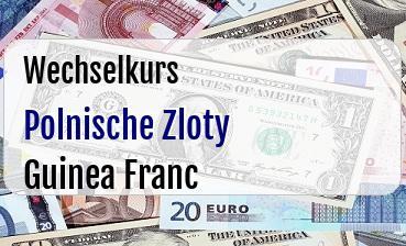 Polnische Zloty in Guinea Franc