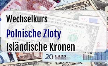 Polnische Zloty in Isländische Kronen