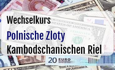 Polnische Zloty in Kambodschanischen Riel