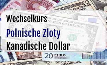 Polnische Zloty in Kanadische Dollar