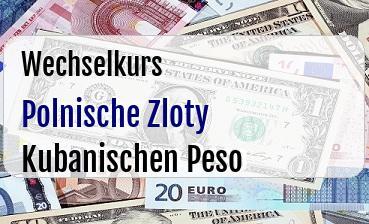 Polnische Zloty in Kubanischen Peso