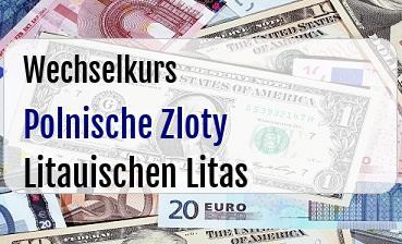 Polnische Zloty in Litauischen Litas