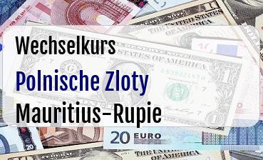 Polnische Zloty in Mauritius-Rupie