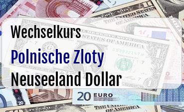 Polnische Zloty in Neuseeland Dollar
