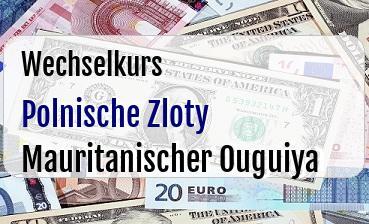 Polnische Zloty in Mauritanischer Ouguiya