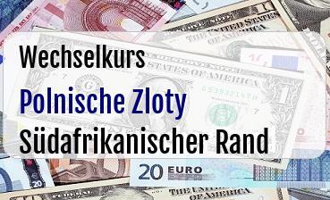 Polnische Zloty in Südafrikanischer Rand