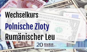 Polnische Zloty in Rumänischer Leu