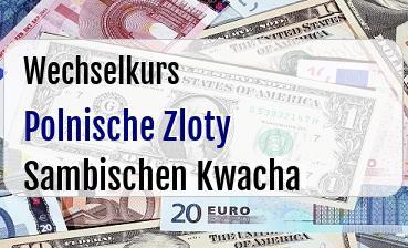 Polnische Zloty in Sambischen Kwacha