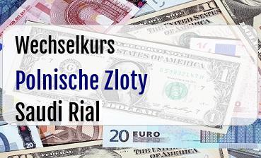 Polnische Zloty in Saudi Rial