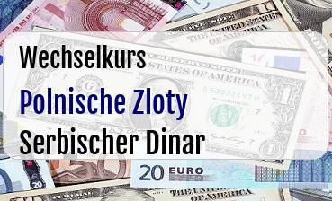 Polnische Zloty in Serbischer Dinar