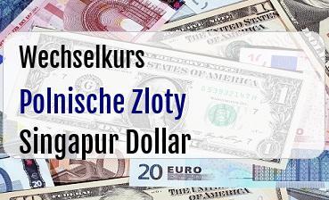 Polnische Zloty in Singapur Dollar