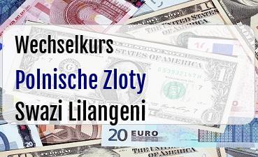 Polnische Zloty in Swazi Lilangeni