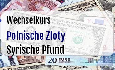 Polnische Zloty in Syrische Pfund