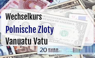 Polnische Zloty in Vanuatu Vatu