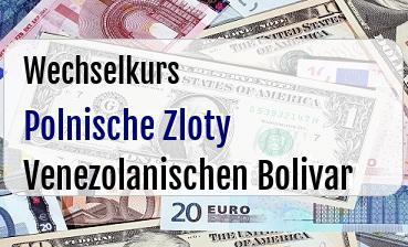 Polnische Zloty in Venezolanischen Bolivar
